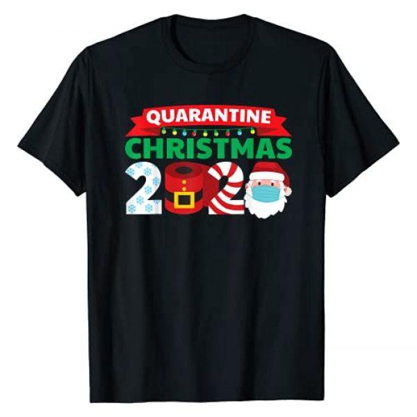 Funny Quarantine Christmas Pajamas for Family Graphic Tshirt 1 2020 Funny Christmas Pajama For Family T-Shirt