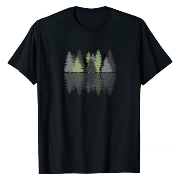 Forest Reflection Nature Trees Woods Graphic Tshirt 1 Forest Reflection Nature Trees Woods T-Shirt