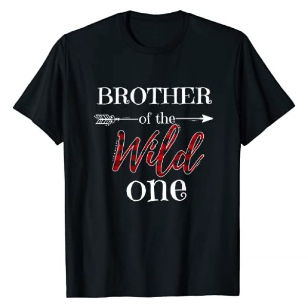 Wild One Family Graphic Tshirt 1 Brother of the Wild One, Plaid Matching Family Apparel T-Shirt