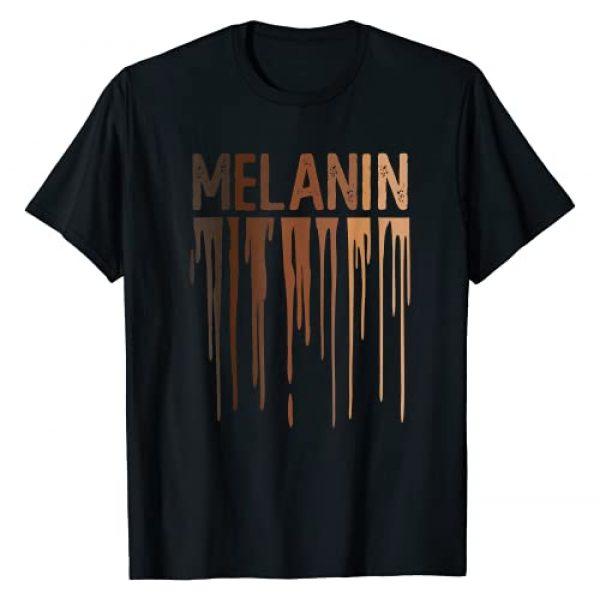 African American BLM Melanin Shirt for Women Men Graphic Tshirt 1 Black History Month Dripping Melanin Shirt Black Pride T-Shirt