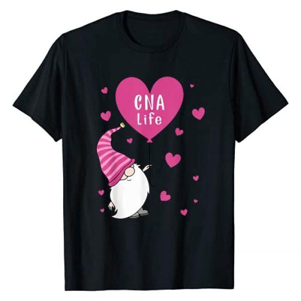 CNA Life Valentine Gnome Nurse Gift Valentine Day Graphic Tshirt 1 CNA Life Valentine Gnome Nurse Gift Valentine's Day T-Shirt