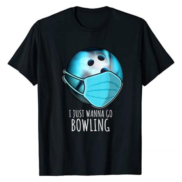 Bowling funny Shirts Graphic Tshirt 1 Funny Bowling Shirts Gift | I Just Wanna Go Bowling Player T-Shirt