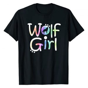 Just a Girl who Loves Wolves TS Gifts Co. Graphic Tshirt 1 Just a Wolf Girl Who Loves Wolves Cute Watercolor Love Gift T-Shirt