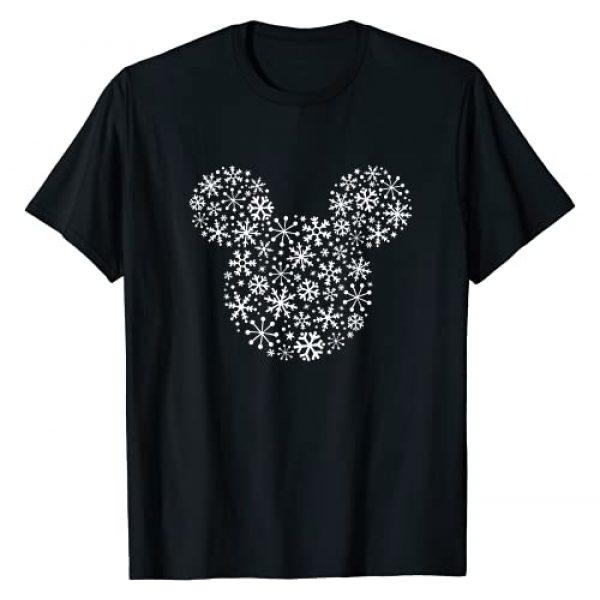 Disney Graphic Tshirt 1 Mickey Mouse Icon Holiday White Snowflakes T-Shirt