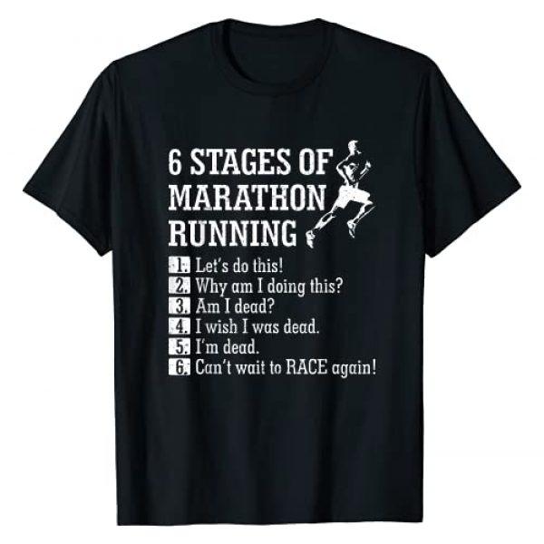 Marathon Graphic Tshirt 1 6 Stages of Marathon Running Tee shirt Gift for Runner T-Shirt