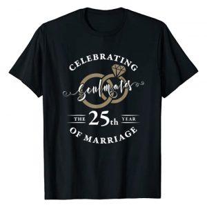 Wowsome! Graphic Tshirt 1 25th Wedding Anniversary Shirt 25 years of Marriage Gift T-Shirt