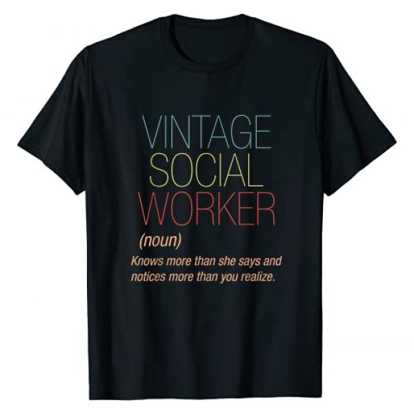 Social Worker Public Servant Definition Gifts Graphic Tshirt 1 Retro Social Worker Definition Public Servant Caseworker T-Shirt
