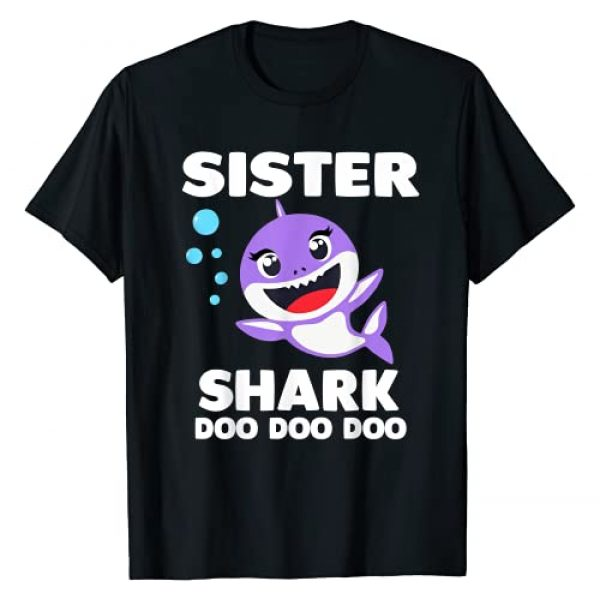 OMG Party Factory Graphic Tshirt 1 Sister Shark Gift Cute Shark Baby Design Family Set Doo Doo T-Shirt