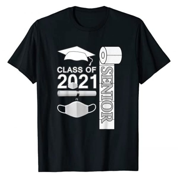 Class of 2021 Senior Designs gifts funny Graphic Tshirt 1 Class of 2021 Senior Mask Paper quarantined.Back to School T-Shirt