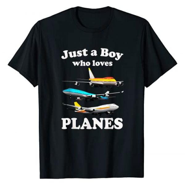 Kids Airplane Lover Gift Pilot Plane Aviator Shirt Graphic Tshirt 1 Just A Boy Who Loves Planes T-Shirt & Toddler Airplane Lover T-Shirt