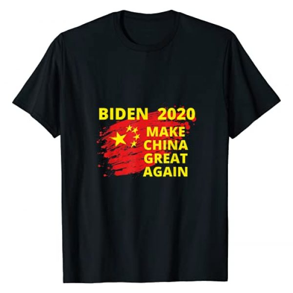 Tee Political Best Gag Gifts and Sarcastic Humor Graphic Tshirt 1 Joe Biden, Make China Great Again, Political Sarcastic Funny T-Shirt
