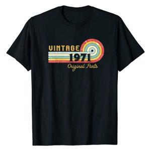 Vintage Original Part Retro Birthday Gift Graphic Tshirt 1 50th Birthday Gift For Men Women Vintage Original Part 1971 T-Shirt