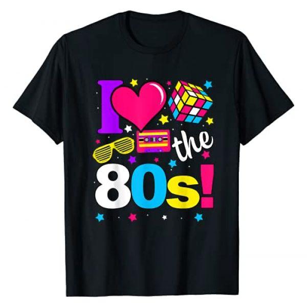 Customer Gift Birthday Vintage Graphic Tshirt 1 Gift Women Kids Boys Girls - I Love The 80s Gift Clothes T-Shirt