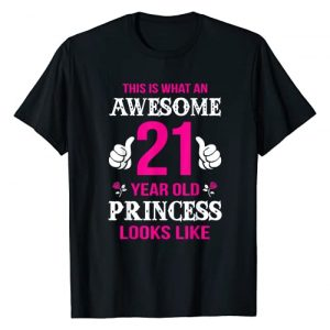 Birthday Shirts For Girls Graphic Tshirt 1 21st Birthday Shirt 21 Years Old Birthday Gift Girls T-Shirt
