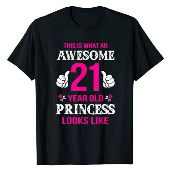 Birthday Shirts For Girls Graphic Tshirt 1 21st Birthday Shirt 21 Years Old Birthday Gift Girls T-Shirt