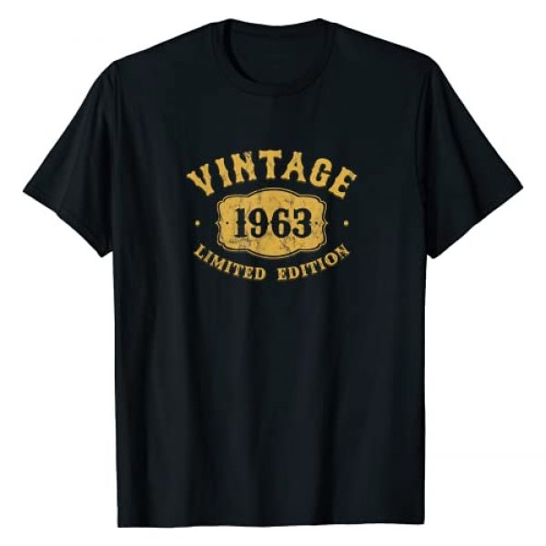 Irregulariteez 1963 Graphic Tshirt 1 Vintage Made In 1963 Classic 58th Birthday Party T-Shirt