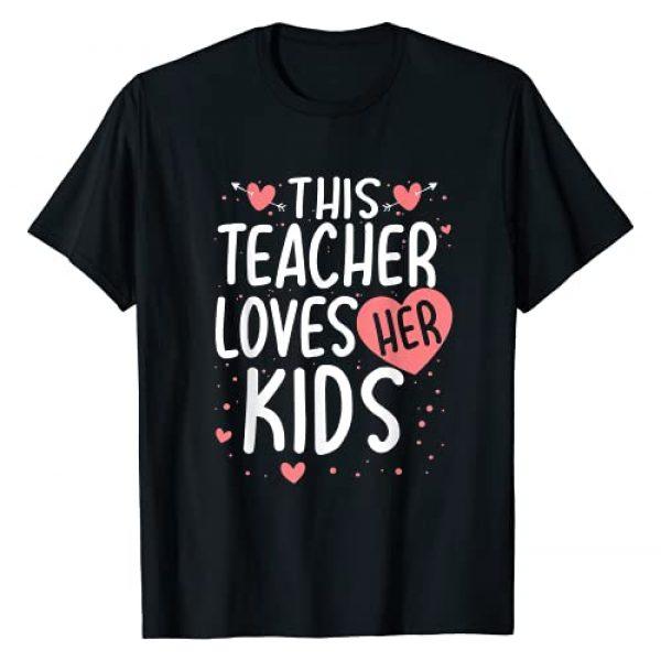 Teacher GND Graphic Tshirt 1 This Teacher Loves Her Kids Valentines Day Gifts T-Shirt