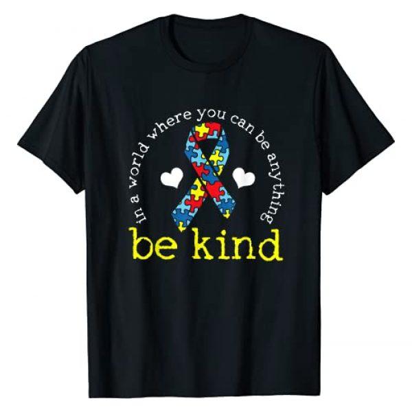 Autism Awareness Graphic Tshirt 1 Kindness Ribbon Heart T-Shirt