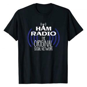 Burke & Bunny Hobbyist Gifts Graphic Tshirt 1 Ham Radio Original Social Network for Men & Women Ham Radio T-Shirt