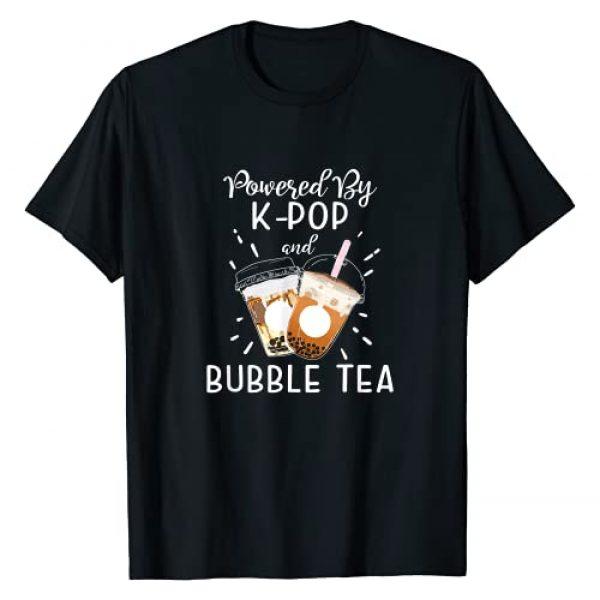 Really Cute Kawaii Gifts Co Graphic Tshirt 1 Powered By K-POP Boba Tea Bubble Tea Korean Pop Gift T-Shirt