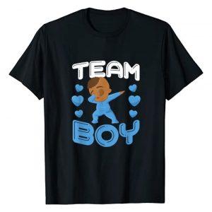 UAB KIDKIS Graphic Tshirt 1 Cool Team Boy Gender Reveal Dabbing Black Baby It's A Boy T-Shirt