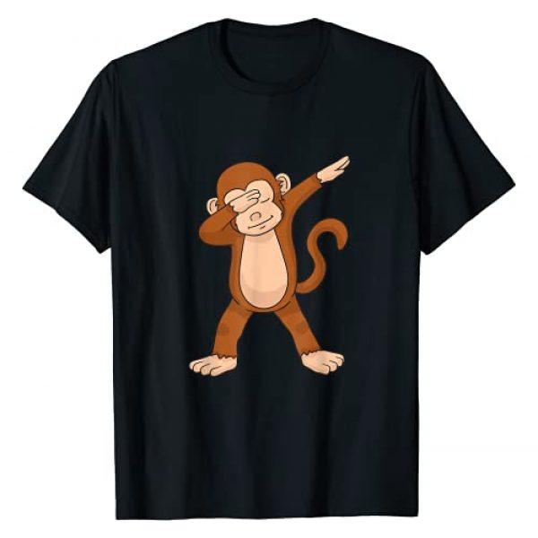Dabbing Monkey Shirt Graphic Tshirt 1 Dabbing Monkey T-Shirt Funny Dab Gift T-Shirt