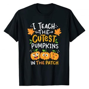 Halloween Teacher Gifts Graphic Tshirt 1 Teacher Halloween Pre-K Teacher Kindergarten Cutest Pumpkins T-Shirt
