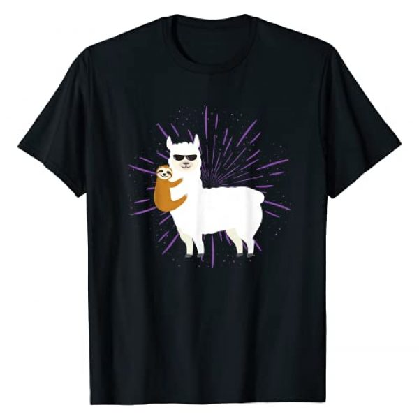 Llama Shirts & Alpaca Gifts Graphic Tshirt 1 Sloth Riding Llama Unisex Gift For Alpaca Lovers T-Shirt