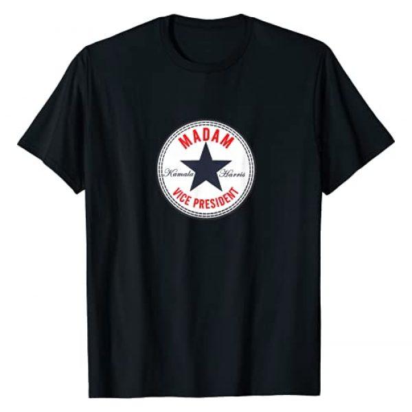 Inspirational Women in Politics Graphic Tshirt 1 Kamala Harris - Madam Vice President   Political Star Logo T-Shirt