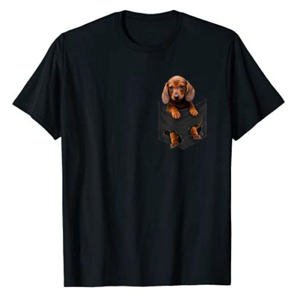 Dachshund Lover Gifts Graphic Tshirt 1 Dachshund in My Pocket, Dachshund Lover Shirt Weiner Dog T-Shirt