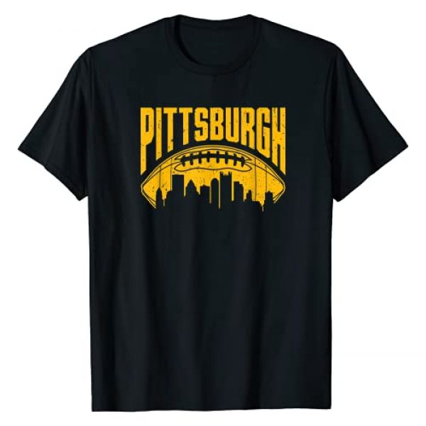 PittsburghFootballSkylineCo. Graphic Tshirt 1 Vintage Pittsburgh-Football Skyline Retro Gift T-Shirt