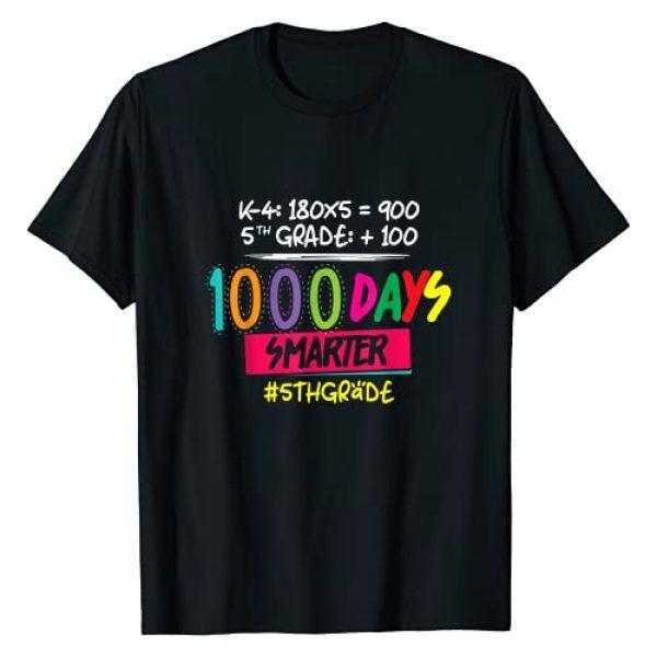 5th Grade - 1000 Days of School - DressedForDuty Graphic Tshirt 1 1000 Days Smarter - Fifth 5th Grade Teacher Student - School T-Shirt