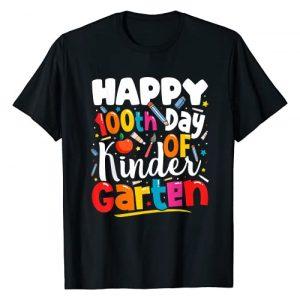 Grapheino Co. 100th Day of School Teacher Shirts Graphic Tshirt 1 100th Day of Kindergarten Teachers Kids 100 Days of School T-Shirt