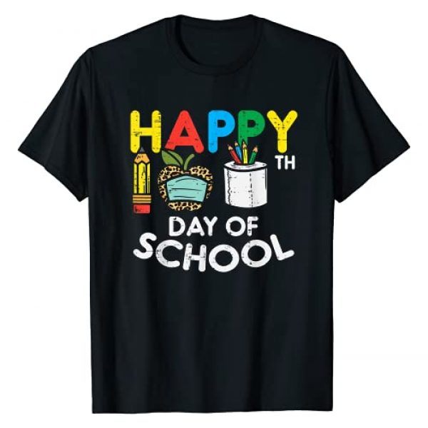 BoredKoalas 100th Day Of School Shirts Costume Graphic Tshirt 1 Happy 100th Day School Leopard Apple Mask Quarantine Gift T-Shirt