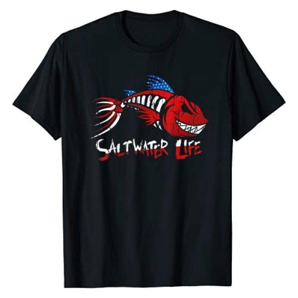 Saltwater Life Tees Graphic Tshirt 1 Saltwater Life Fisherman Fishing T-Shirt