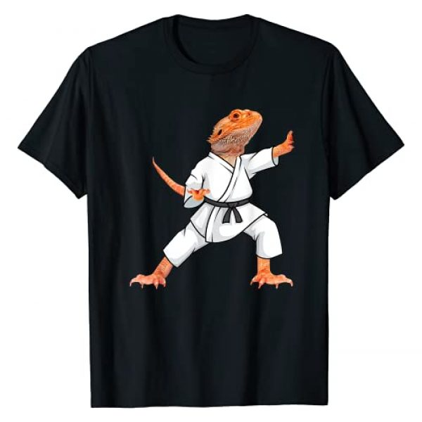 Bearded dragons Karate Martial Arts Clothing Co. Graphic Tshirt 1 Funny Bearded dragons doing Karate Samurai Ninja lizard T-Shirt