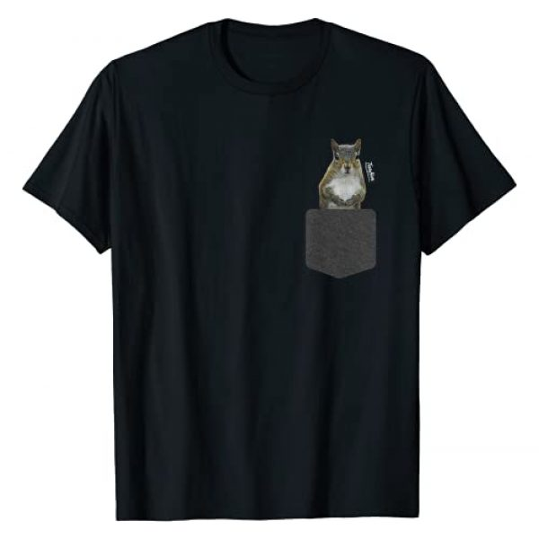 TeesHive Graphic Tshirt 1 Squirrel Shirts for Men Women Kids Boy Girl: Squirrel Pocket T-Shirt