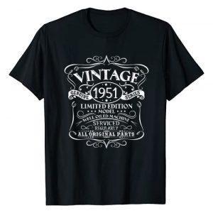 1951 Birthday Funny Creative Designs Graphic Tshirt 1 Vintage 1951 70th Birthday Gift Men Women Original Design T-Shirt