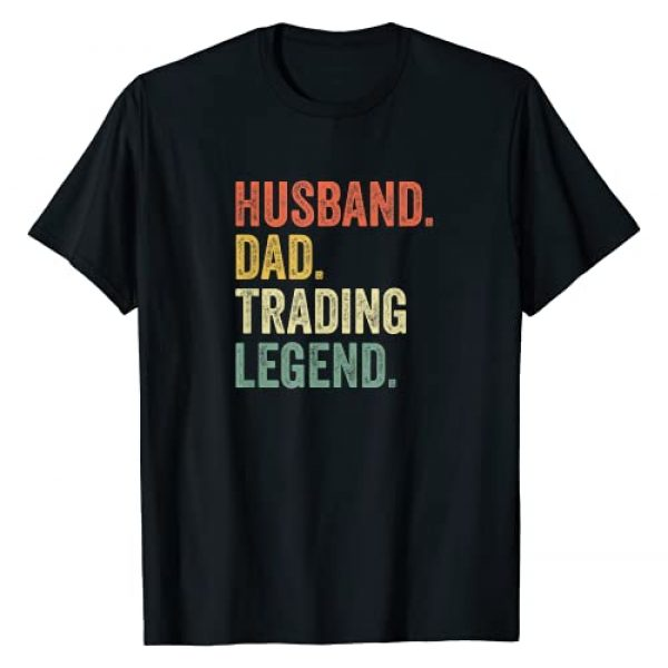 Husband Dad Trading Legend Apparel Graphic Tshirt 1 Funny Stock Trader Shirt Gifts Day Trading Crypto Bitcoin T-Shirt