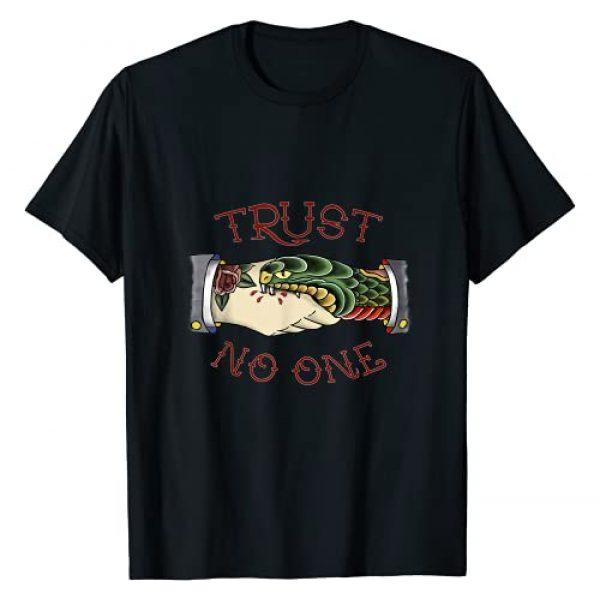 TSHIRTRIBE Graphic Tshirt 1 Trust No One - American Traditional Tattoo T-Shirt