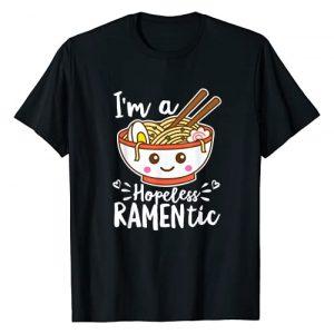 Detour Shirts Graphic Tshirt 1 Hopeless Ramentic Cute Kawaii Ramen Noodles Pun T-Shirt