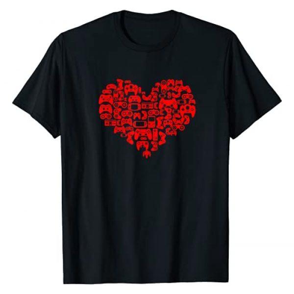 Gamer Valentine's Day gift T-Shirt Graphic Tshirt 1 Video Gamer Valentines Day Shirt Heart Controller Gift Tee T-Shirt