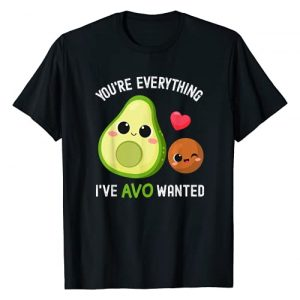 Funny Valentines Day Matching For Him and Her Graphic Tshirt 1 You're Everything AVO Wanted Funny Avocado Valentines Day T-Shirt