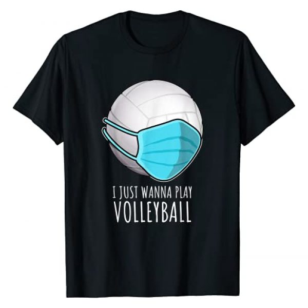 funny volleyball shirts Graphic Tshirt 1 Gifts | I Just Wanna Play Volleyball T-Shirt