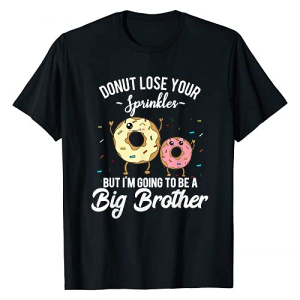 Donut Pregnancy Gender Reveal Party Quote Gift Graphic Tshirt 1 I'm Going to Be a Big Brother Pregnancy Baby Announcement T-Shirt