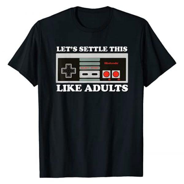 Nintendo Graphic Tshirt 1 NES Controller Let's Settle This Graphic T-Shirt T-Shirt