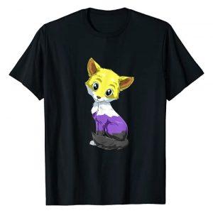 Nonbinary Fox Kawaii Style - Transgender Gifts Graphic Tshirt 1 Nonbinary Fox Anime Style - Pride LGBTQ - Transgender T-Shirt