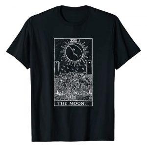 Tarot Love Design Graphic Tshirt 1 Tarot Cards The Moon Occult Design Gift T-Shirt