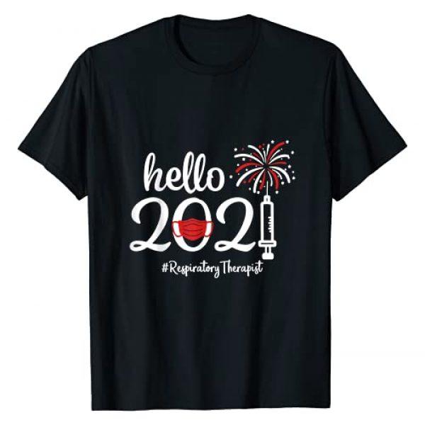 Hello Respiratory Therapist Quarantine New Year Graphic Tshirt 1 Hello 2021 Respiratory Therapist Quarantine New Year Nurse T-Shirt