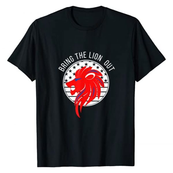 Patriot Bring The Lion Out American Conservative Graphic Tshirt 1 Patriotic Bring The Lion Out American Flag Patriot Party T-Shirt